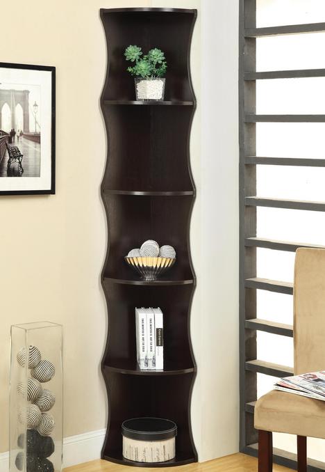 Coaster® Corner Bookcase-801182