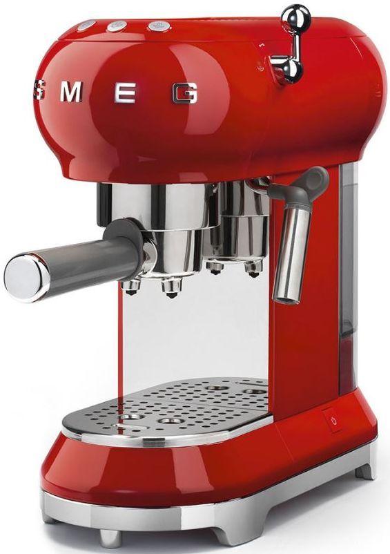 Smeg 50's Retro Style Espresso Coffee Machine-Red-ECF01RDUS