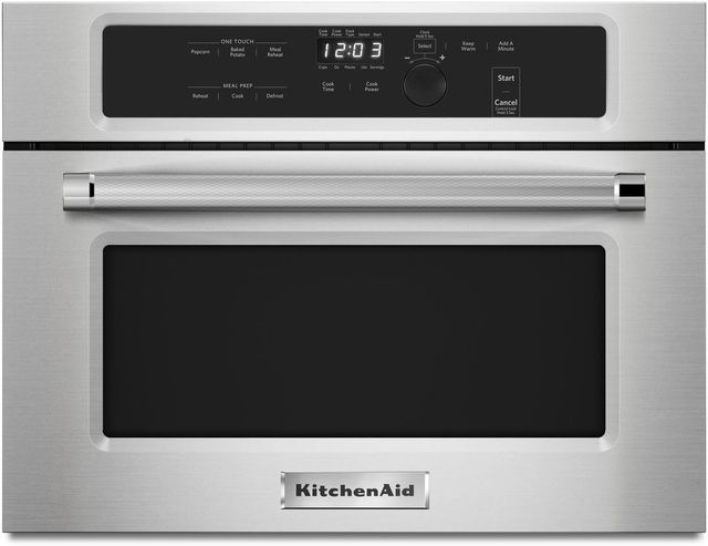 """KitchenAid® 23.75"""" Stainless Steel Built In Microwave Oven-KMBS104ESS"""