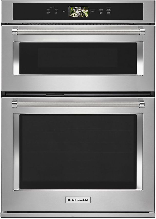 """KitchenAid® 30"""" Stainless Steel Smart Electric Oven/Micro Combo Built In-KOCE900HSS"""