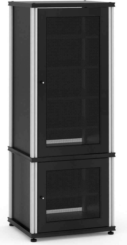 Salamander Designs® Synergy Model 603 AV Cabinet-Black/Aluminum-603B/A