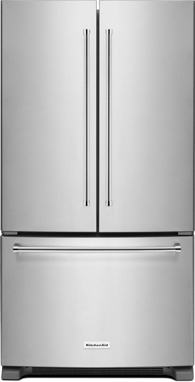KitchenAid® 25.19 Cu. Ft. Stainless Steel French Door Refrigerator-KRFF305ESS