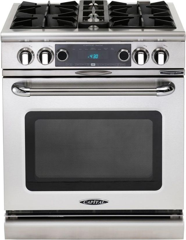"""Capital Connoisseurian 30"""" Stainless Steel Free Standing Dual Fuel Range-COB304L"""