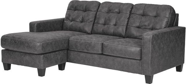 Benchcraft® Venaldi Gunmetal Sofa Chaise-9150118