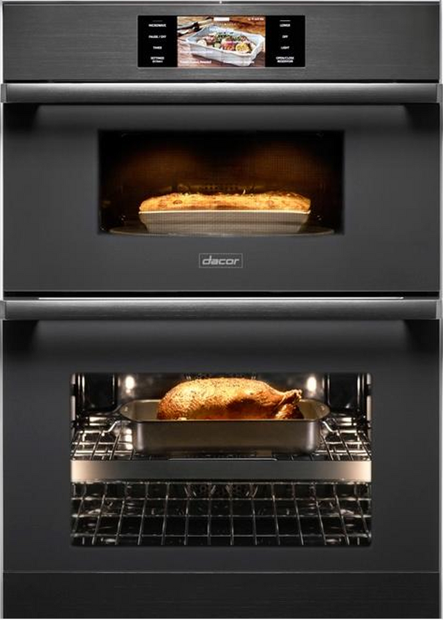 """Dacor® Contemporary 29.75"""" Graphite Stainless Steel Electric Micro Combination Oven-DOC30M977DM"""