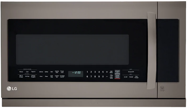 Four à micro-ondes à hotte intégrée LG® de 2,2 pi³ de 30 po - Acier inoxydable noir-LMV2257BD