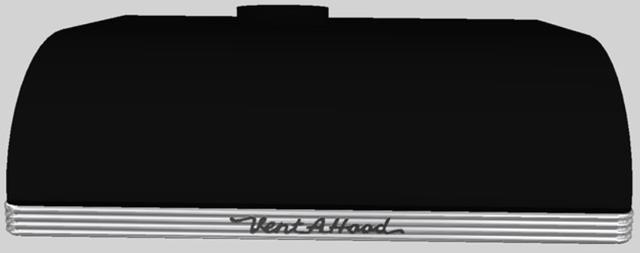 "Vent-A-Hood® 30""  Retro Style Under Cabinet Range Hood-Black-CLH9-130 BL"