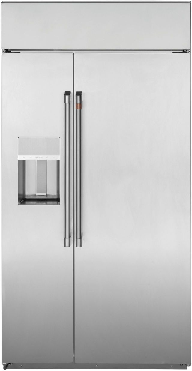 Café™ 28.6 Cu. Ft.  Stainless Steel Smart Built In Side-by-Side Refrigerator-CSB48YP2NS1