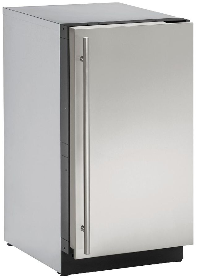 """U-Line® 3000 Series 17.75"""" Stainless Steel Ice Maker-3018CLRS-40B"""