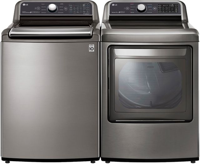 LG Graphite Steel Laundry Pair-LGLAUDLG7301VE2