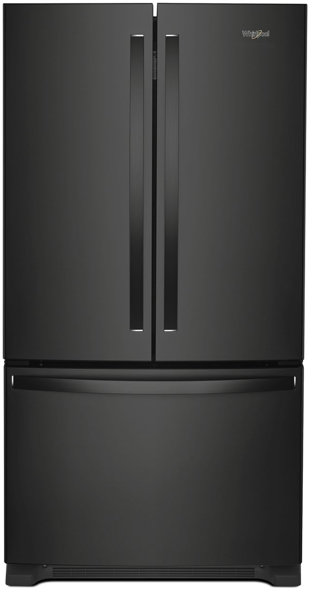 Whirlpool® 20 Cu. Ft. Wide Counter Depth French Door Refrigerator-Black-WRF540CWHB
