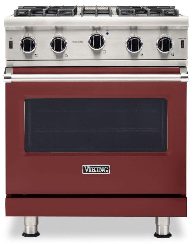 "Viking® 5 Series 30"" Reduction Red Pro Style Liquid Propane Gas Range-VGIC53024BRELP"