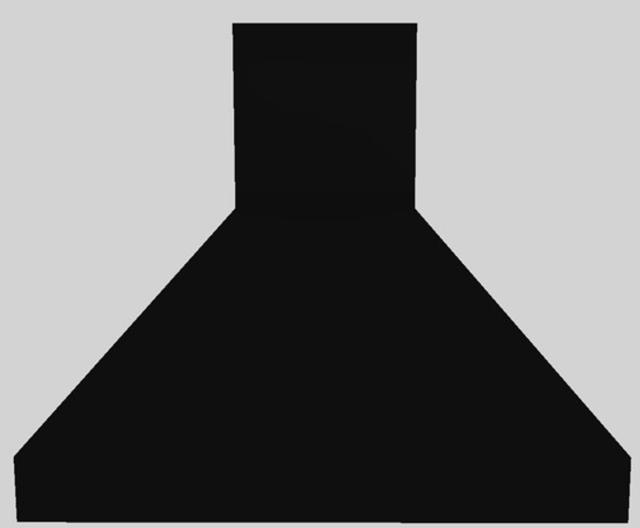 "Vent-A-Hood® 36"" Euro-Style Island Range Hood-Black-EPIH18-236 BL"