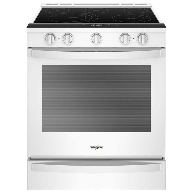Cuisinière électrique encastrée de 30 po Whirlpool® de 6,4 pi³ - Blanc-YWEE750H0HW
