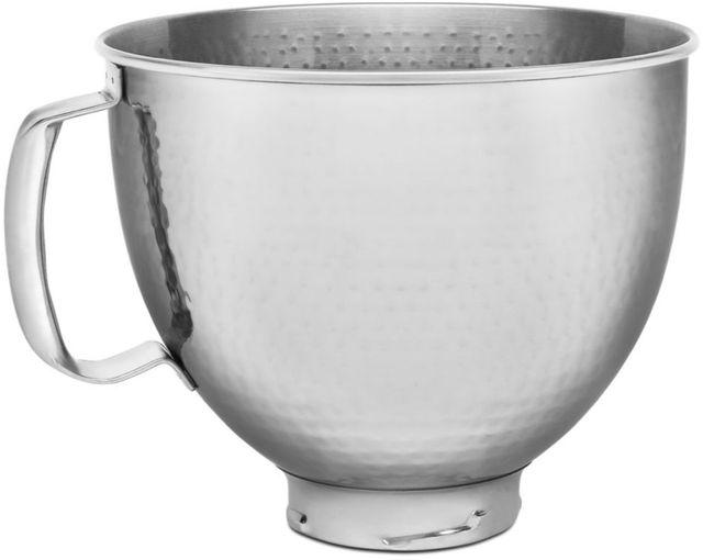 KitchenAid® Heritage Stainless Steel 5 Quart Hammered Stainless Steel Bowl-KSM5SSBHM
