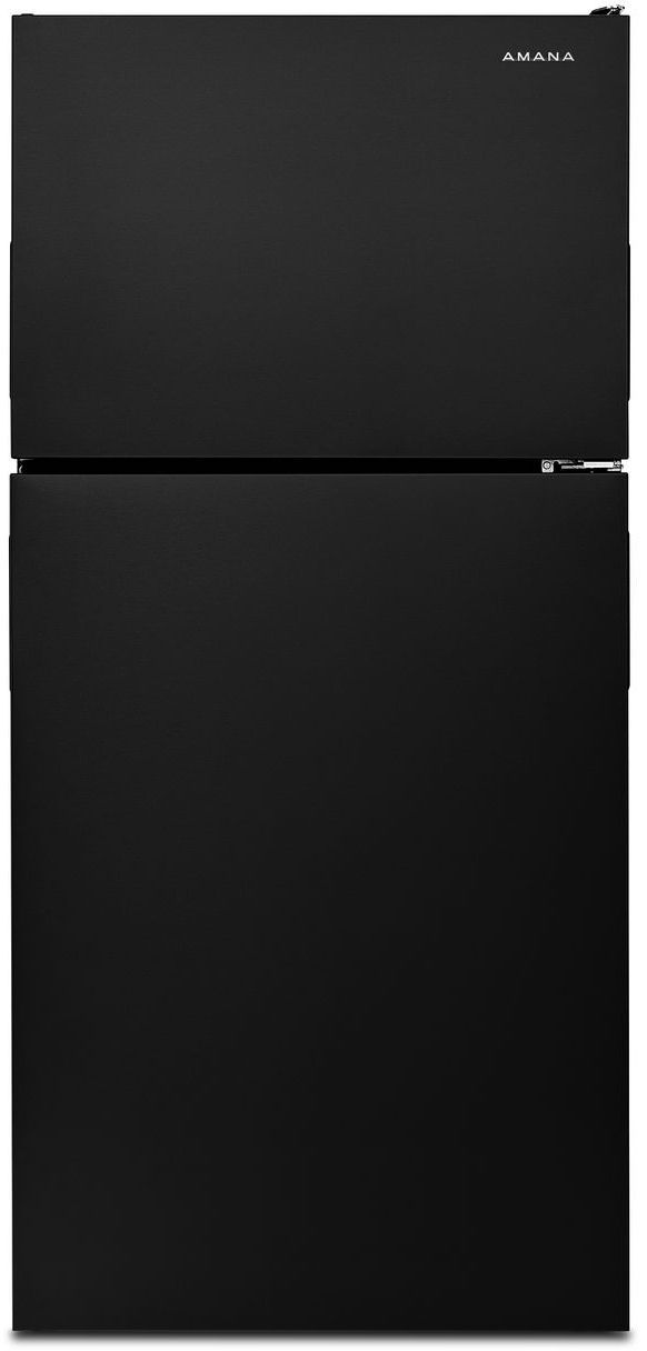 Amana® 18.15 Cu. Ft. Black Top Freezer Refrigerator-ART308FFDB
