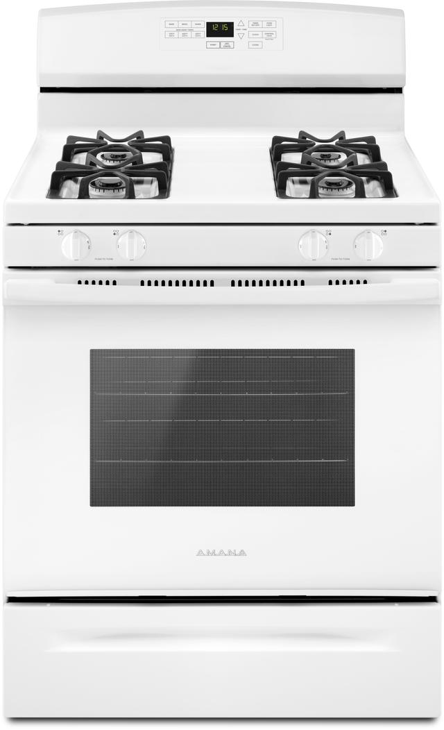 Cuisinière au gaz autoportante de 30 po Amana® de 5,0 pi³ - Blanc-AGR6603SFW