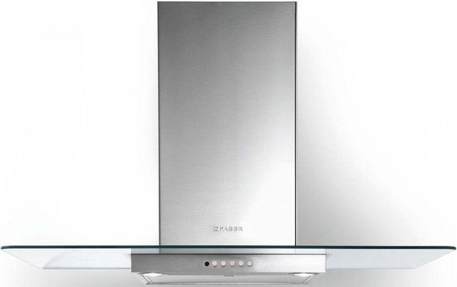 "Faber Hoods Glassy 30"" Wall Glass Range Hood-Stainless Steel-GLAS30SS300-B"