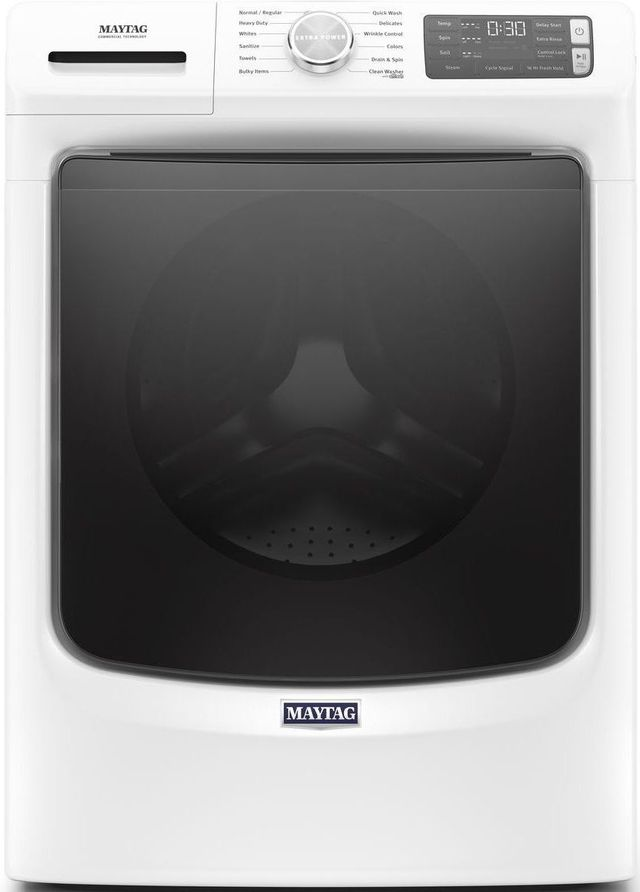 Maytag® 4.8 Cu. Ft. White Front Load Washer-MHW6630HW
