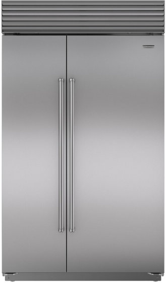 Sub-Zero® 28.9 Cu. Ft. Built In Side By Side Refrigerator-Stainless Steel-BI-48S/S/PH