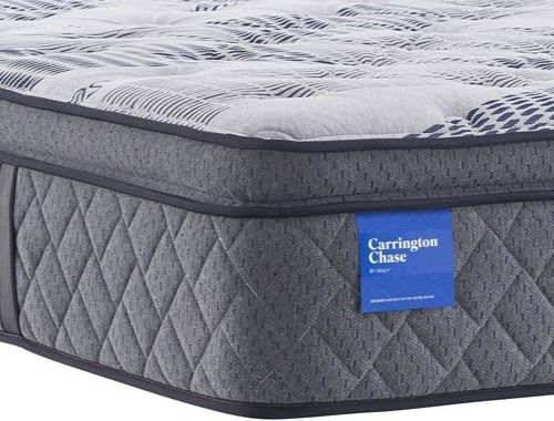 Carrington Chase by Sealy® Prestwick Euro Pillow Top Pocketed Coil Plush Twin Mattress-52670630