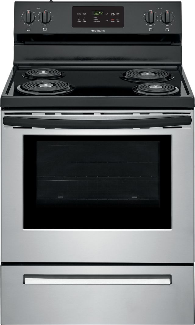 """Frigidaire® 30"""" Stainless Steel Free Standing Electric Range-FFEF3016VS"""