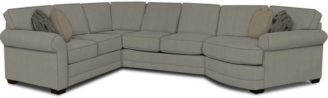 England Furniture Co. Brantley 4 Piece Culpepper Cement/Alvarado Mineral/Watermill Linen Sectional-5630-28-22-43-95+8612+8592+8601