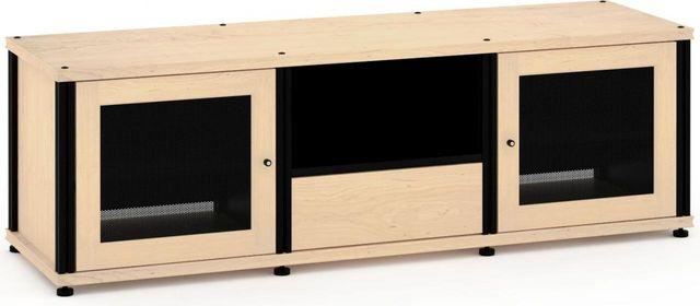 Salamander Designs® Synergy Model 236 AV Cabinet-Natural Maple/Black-SB236M/B