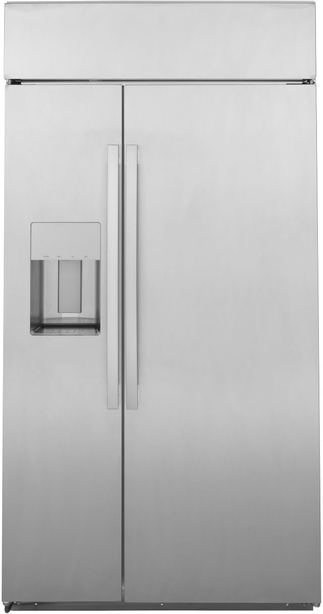 GE Profile™ 28.7 Cu. Ft. Stainless Steel Built In Side-by-Side Refrigerator-PSB48YSNSS