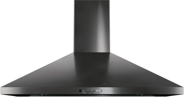 """GE® 36"""" Wall Mount Pyramid Chimney Hood-Black Stainless-JVW5361BJTS"""