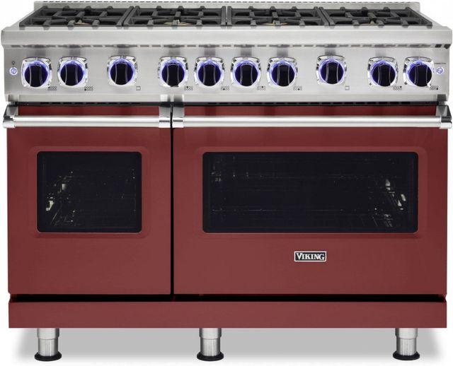"Viking® 7 Series 48"" Reduction Red Pro Style Natural Gas Range-VGR74828BRE"