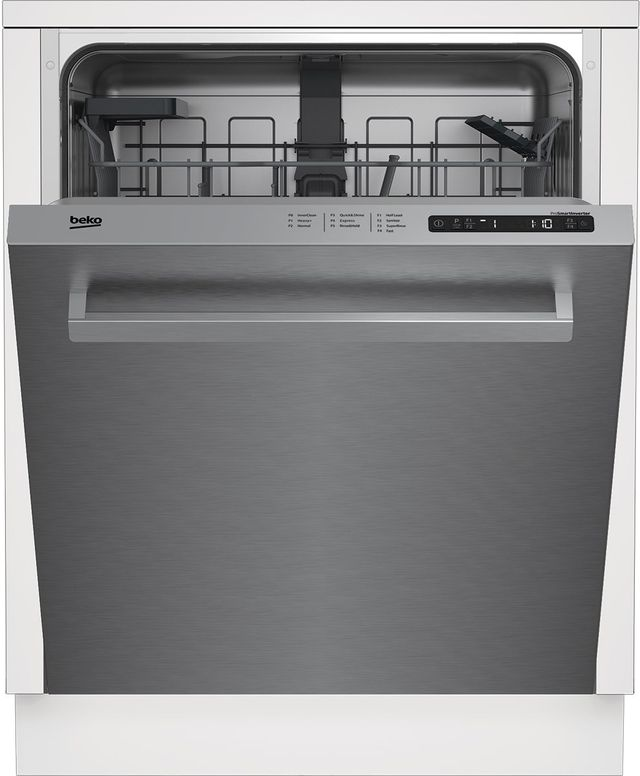 "Beko 24"" Fingerprint Free Stainless Steel Built In Dishwasher-DDN25401X"