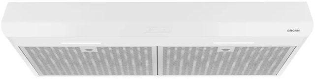 "Broan® Sahale BKDEG1 Series 30"" Under Cabinet Range Hood-White-BKDEG130WW"