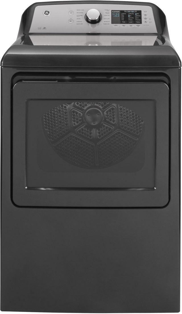 GE® 7.4 Cu. Ft. Diamond Gray Front Load Gas Dryer-GTD72GBPNDG