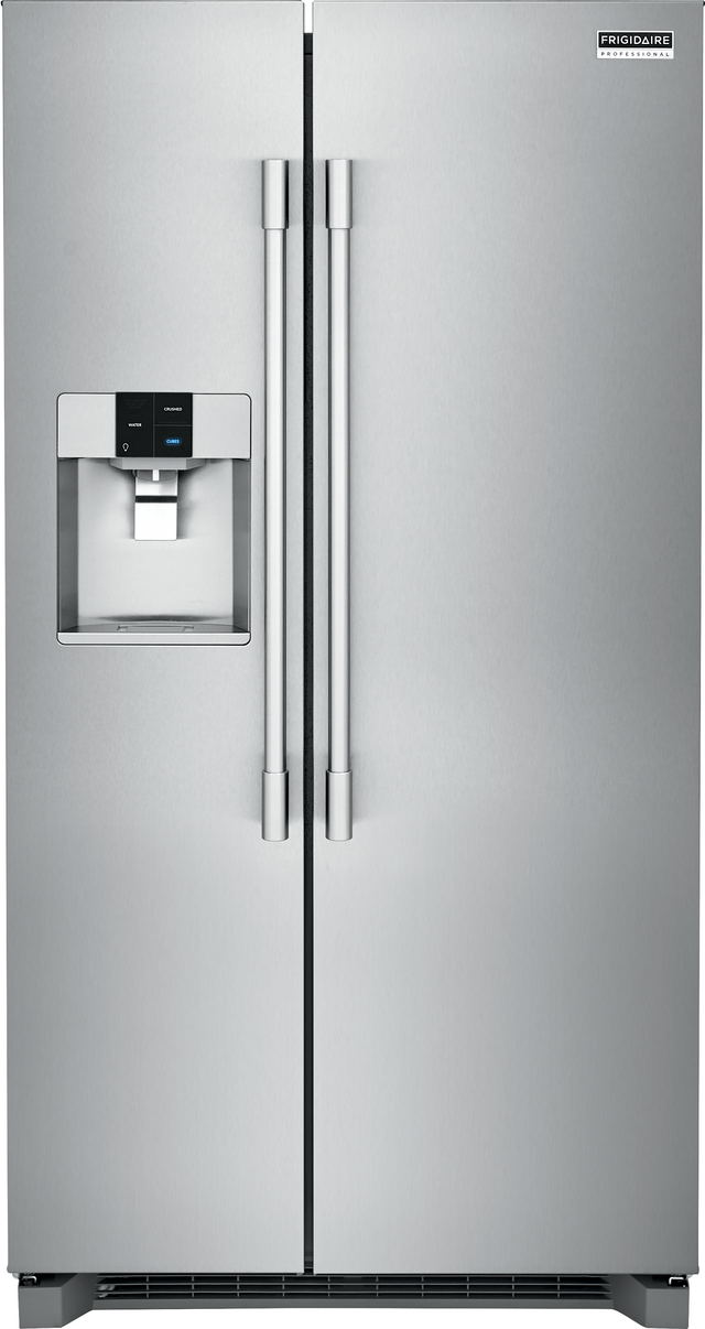 Frigidaire Professional® 22.0 Cu. Ft. Stainless Steel Counter Depth Side By Side Refrigerator-FPSC2278UF
