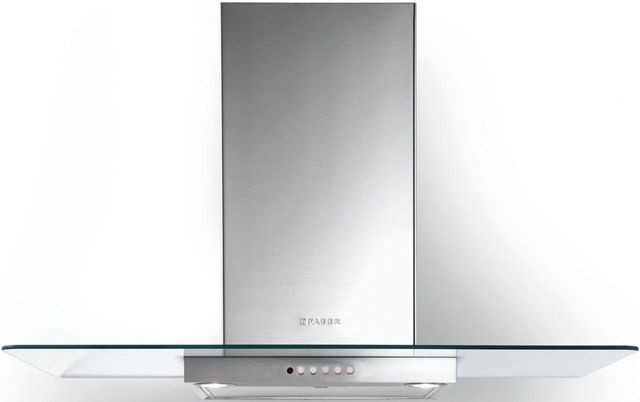 "Faber Hoods Glassy 36"" Wall Glass Range Hood-Stainless Steel-GLAS36SS300-B"