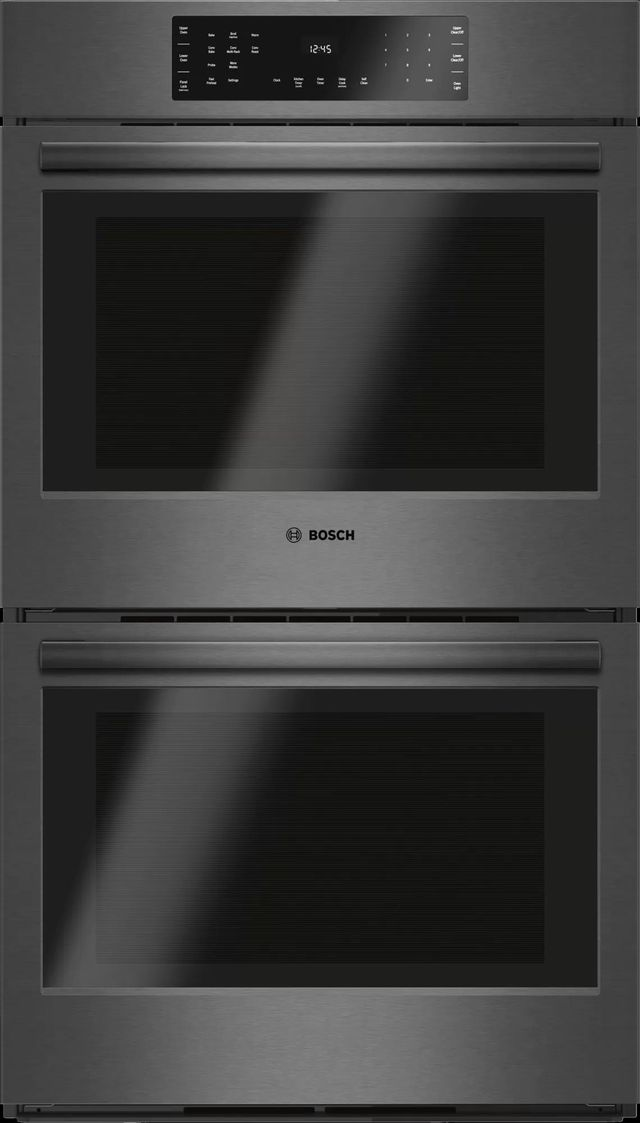 """Bosch 800 Series 30"""" Electric Double Oven Built In-Black Stainless Steel-HBL8642UC"""
