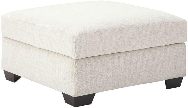 Pouf avec rangement Cambri en tissu blanc Ashley®-9280111