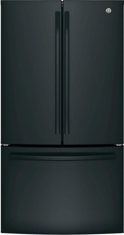 GE® 27 Cu. Ft. French Door Refrigerator-Black-GNE27JGMBB