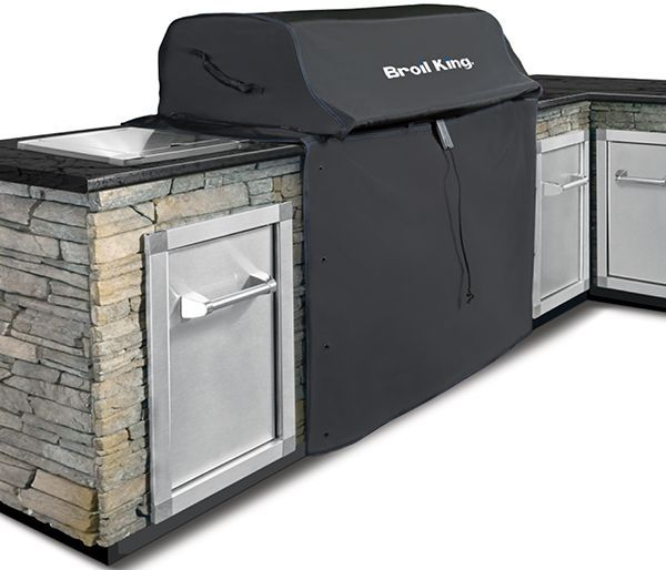 Broil King® Imperial™ 590 and Regal™ S520 Series Black Built In Grill Cover-68592