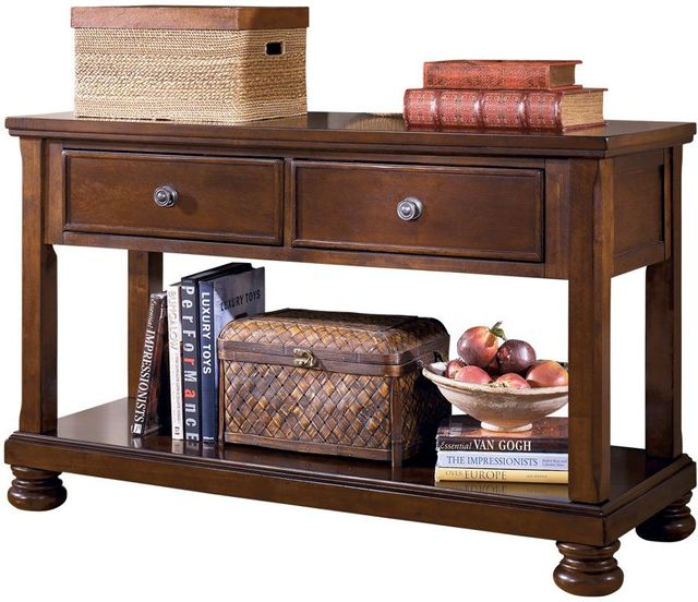 Signature Design by Ashley® Porter Rustic Brown Console Sofa Table-T697-4