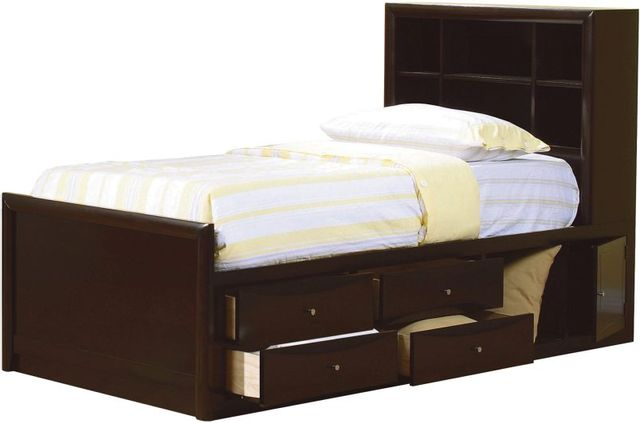 Coaster® Phoenix Cappuccino Twin Bookcase Youth Bed-400180T