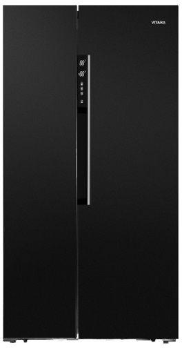 Vitara 20.6 Cu. Ft. Black Counter Depth Side-by-Side Refrigerator-VSBS2100EB