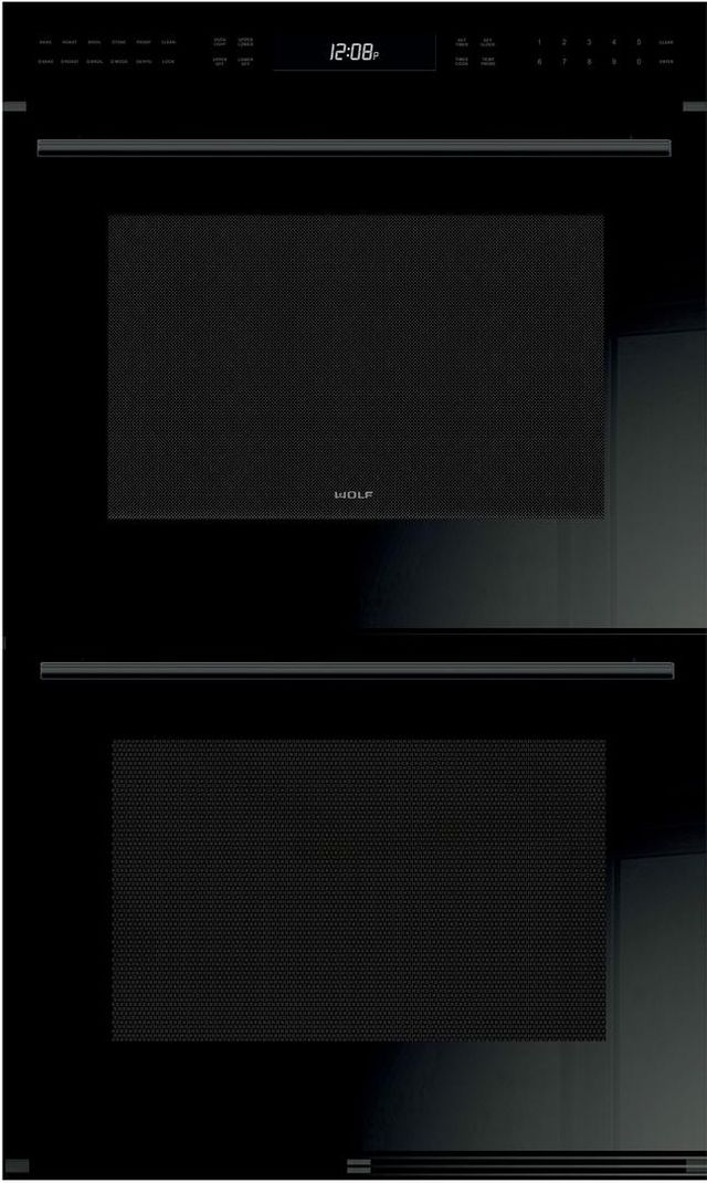 """Wolf® E Series 30"""" Electric Double Oven Built In-Black-DO30CE/B/TH"""