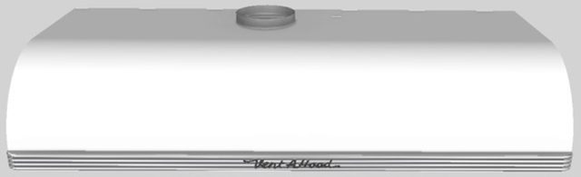 """Vent-A-Hood® 48""""  Retro Style Under Cabinet Range Hood-White-CLH9-148 WH"""