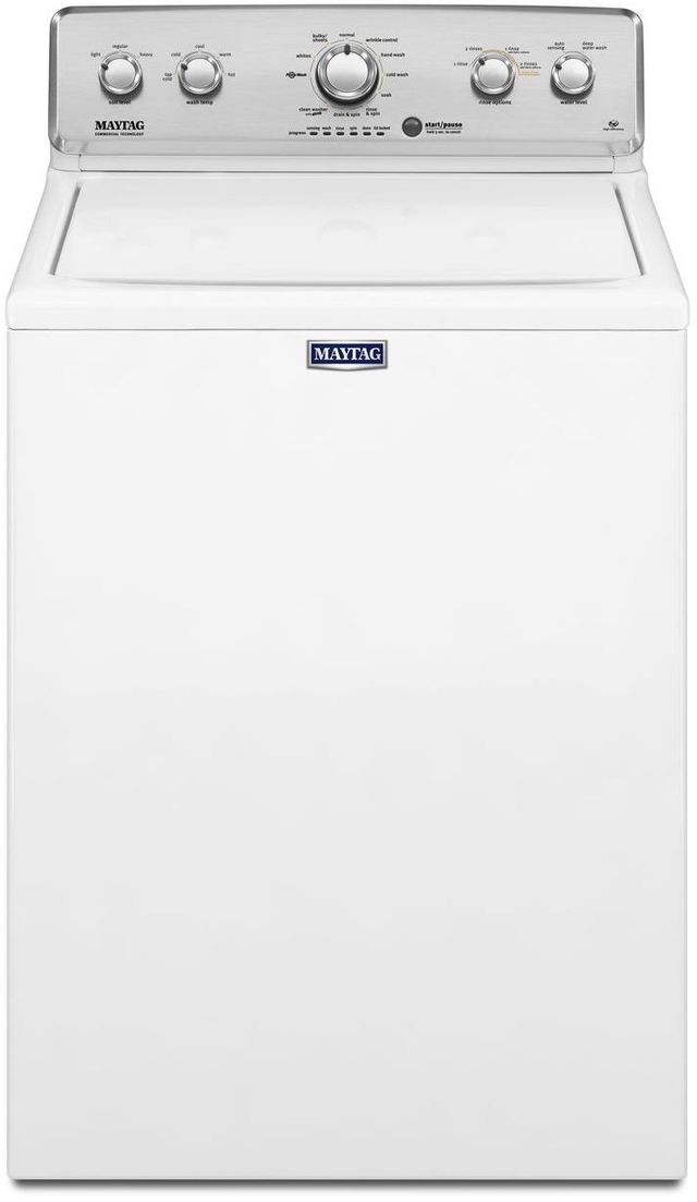 Maytag® 4.2 Cu. Ft. White Top-Load Washer-MVWC565FW