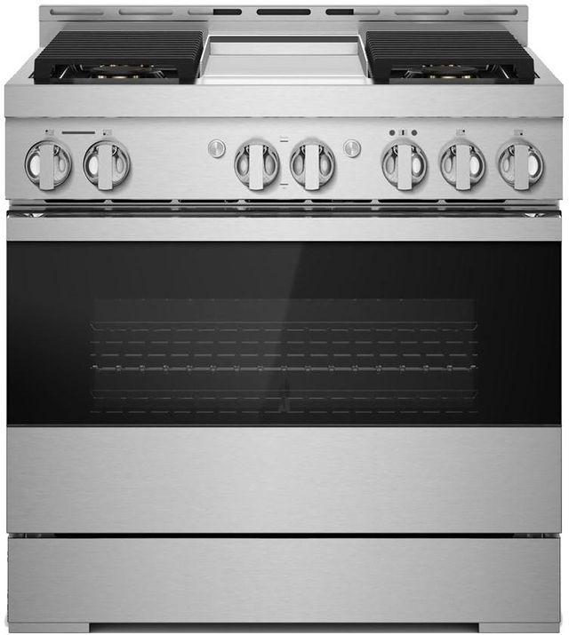"""JennAir® NOIR™ 36"""" Stainless Steel Pro Style Gas Range-JGRP536HM"""