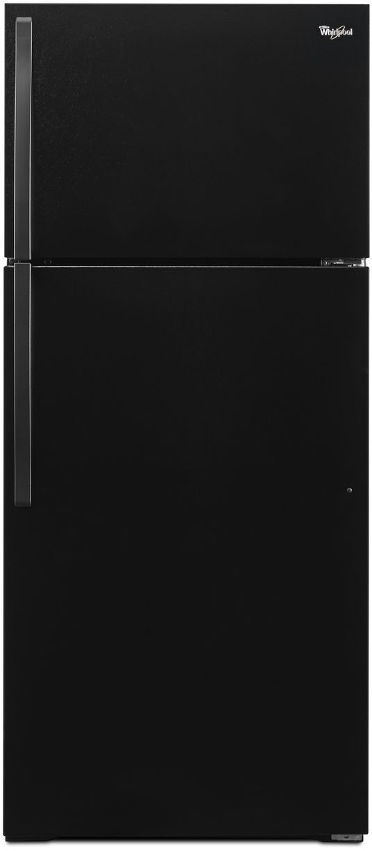 Whirlpool® 14.3 Cu. Ft. Top Freezer Refrigerator-Black-WRT104TFDB