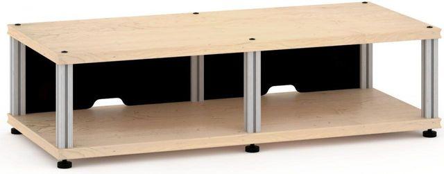 Salamander Designs® Synergy Twin 10 AV Cabinet-Natural Maple/Aluminum-SN10M/A