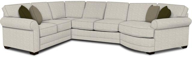 England Furniture Co. Brantley 4 Piece Culpepper Snow/Alvarado Mineral/Kaysen Mica Sectional-5630-28-22-43-95+8613+8637+8601